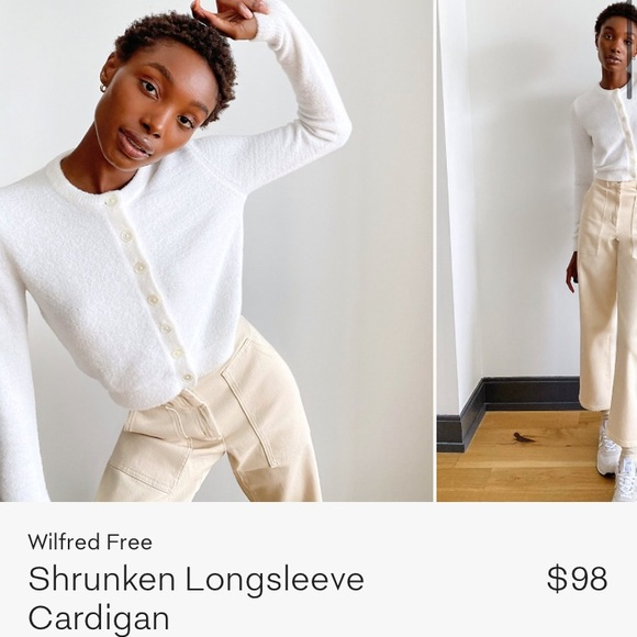Wilfred free shrunken long sleeve cardigan